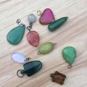 Genuine semi precious stone pendants